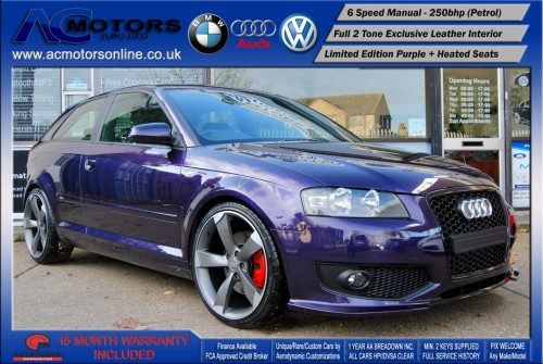 AUDI A3 S3 Style (S-Line) Special Edition - 2.0 TFSI (2006) - 250BHP - (Image 1)