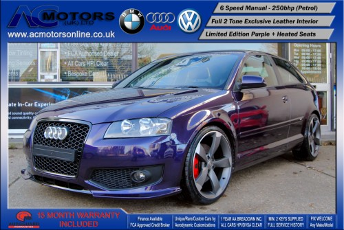 AUDI A3 S3 Style (S-Line) Special Edition - 2.0 TFSI (2006) - 250BHP - (Image 3)