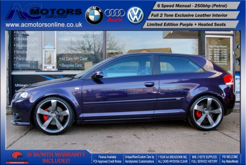 AUDI A3 S3 Style (S-Line) Special Edition - 2.0 TFSI (2006) - 250BHP - (Image 4)