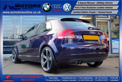 AUDI A3 S3 Style (S-Line) Special Edition - 2.0 TFSI (2006) - 250BHP - (Image 5)