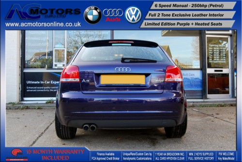 AUDI A3 S3 Style (S-Line) Special Edition - 2.0 TFSI (2006) - 250BHP - (Image 6)