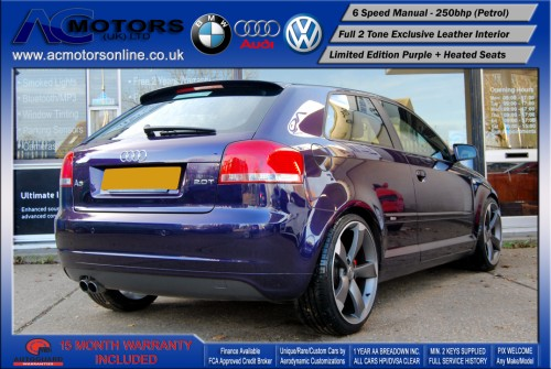 AUDI A3 S3 Style (S-Line) Special Edition - 2.0 TFSI (2006) - 250BHP - (Image 7)