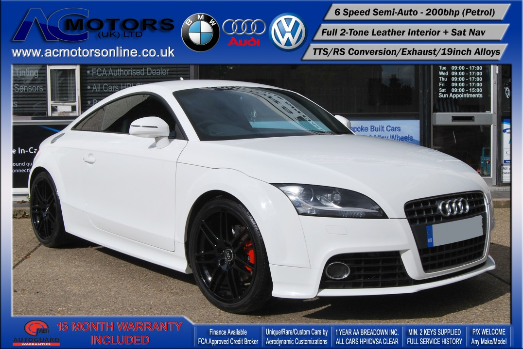 AUDI Exclusive 2.0 TFSI (RS Conversion) 2DR Coupe (2008) - 200bhp