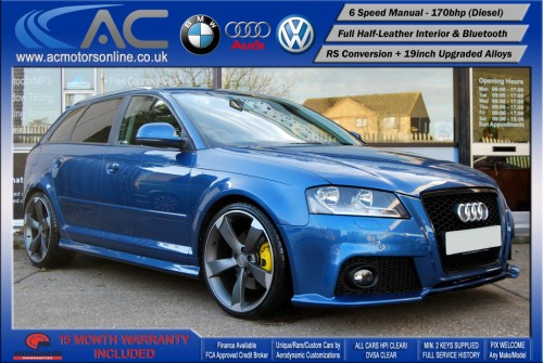 AUDI A3 (RS/RS3 STYLE) - 2.0 TDI (2008) - 170BHP - (Image 1)