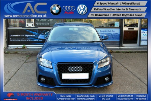 AUDI A3 (RS/RS3 STYLE) - 2.0 TDI (2008) - 170BHP - (Image 2)