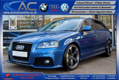AUDI A3 (RS/RS3 STYLE) - 2.0 TDI (2008) - 170BHP - (Image 3)