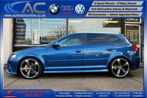 AUDI A3 (RS/RS3 STYLE) - 2.0 TDI (2008) - 170BHP - (Image 4)