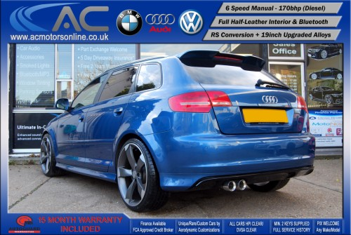 AUDI A3 (RS/RS3 STYLE) - 2.0 TDI (2008) - 170BHP - (Image 5)
