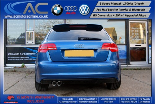 AUDI A3 (RS/RS3 STYLE) - 2.0 TDI (2008) - 170BHP - (Image 6)