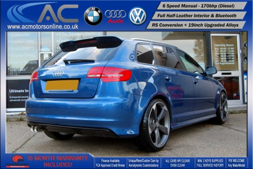 AUDI A3 (RS/RS3 STYLE) - 2.0 TDI (2008) - 170BHP - (Image 7)