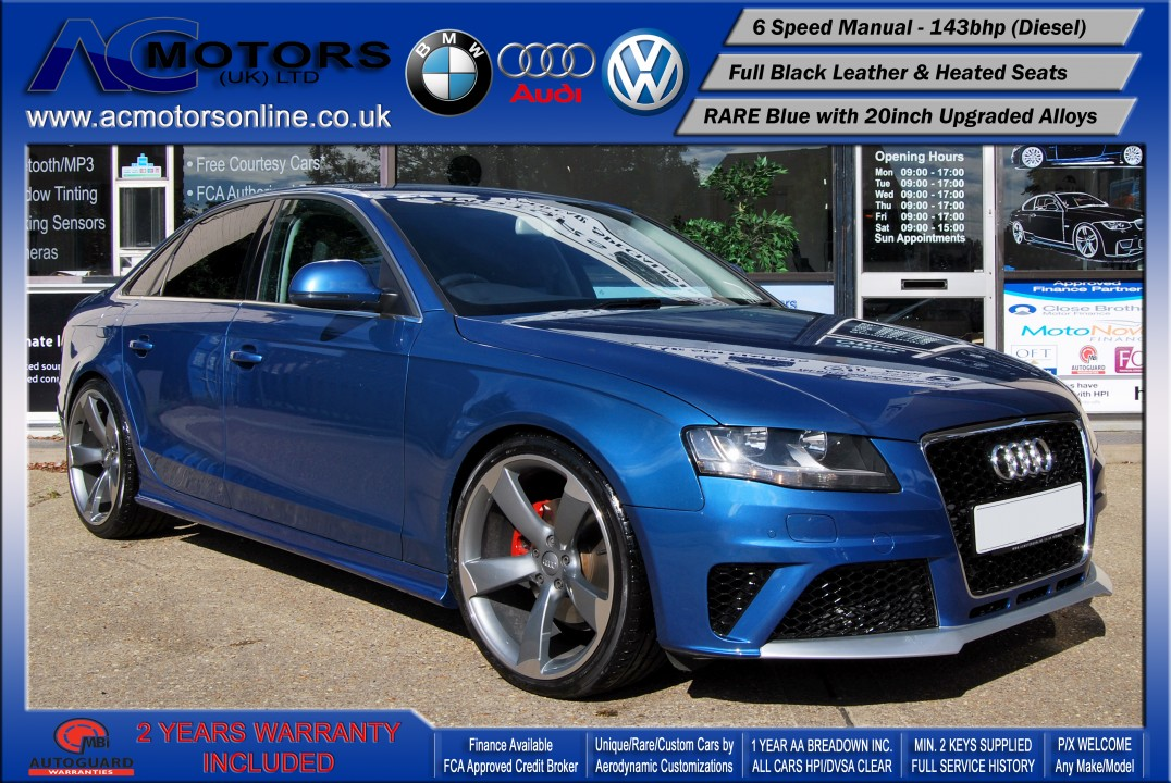 Audi A4 Saloon (RS4 REPLICA) 2.0TDI (2008) - 143bhp