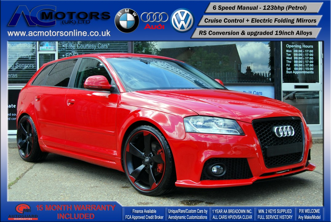 Audi A3 (RS/RS3 Style) - 1.4 TFSI (2008) - 123bhp