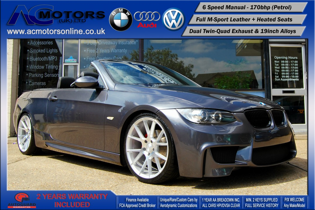 BMW 320I M3 (AC AERO KIT) Convertible (2008) - 170bhp