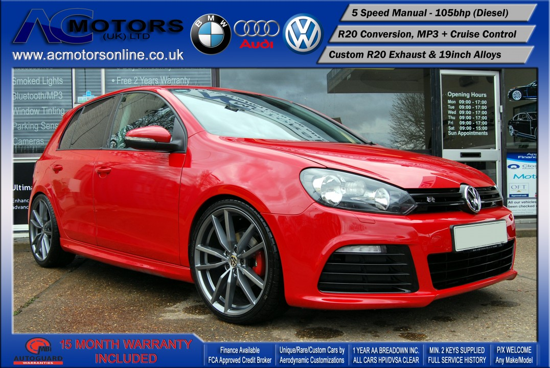 VW Golf R20 Replica 1.6 TDI SE (2009) - 105bhp